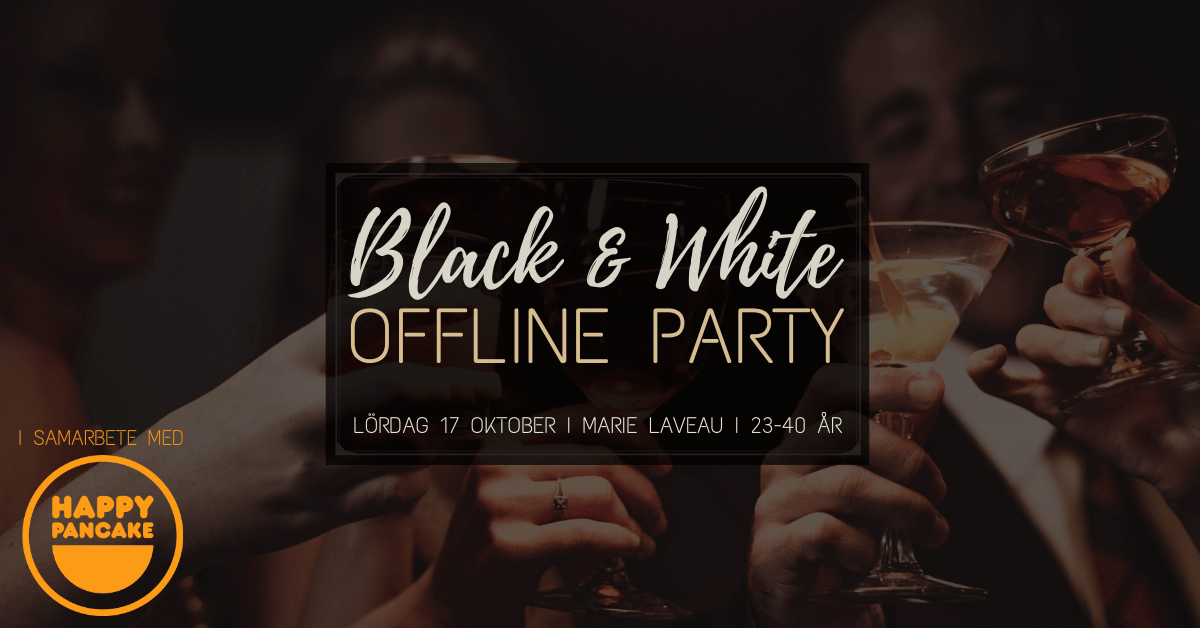 Black & White Offline Party 17 okt