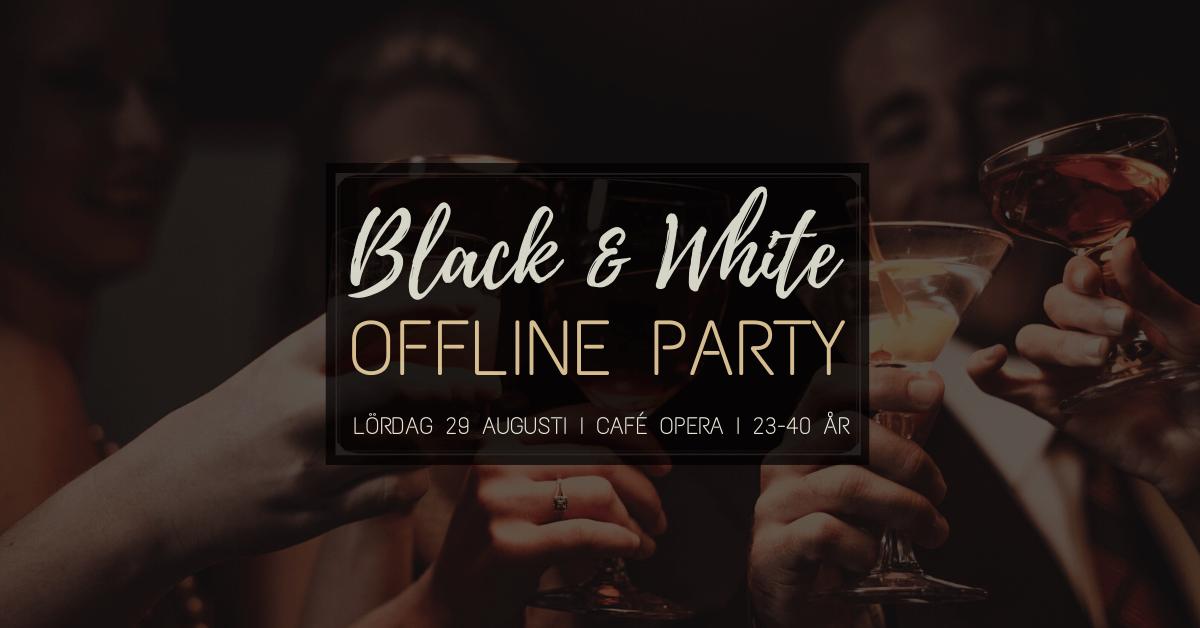 Black & White Offline Party Bokningssidan